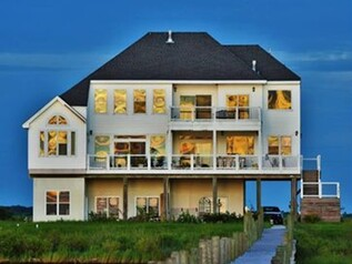 Three story home on the water